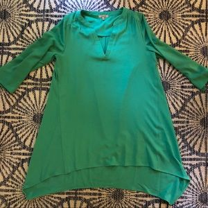 Kelly green tunic
